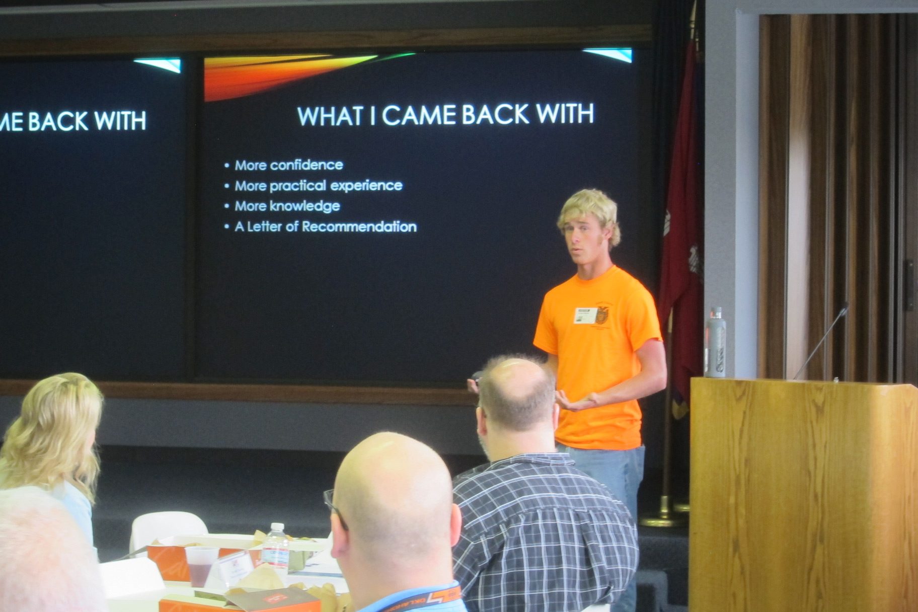 Ethan Stringer with What He Learned at Engineering and Construction Camp